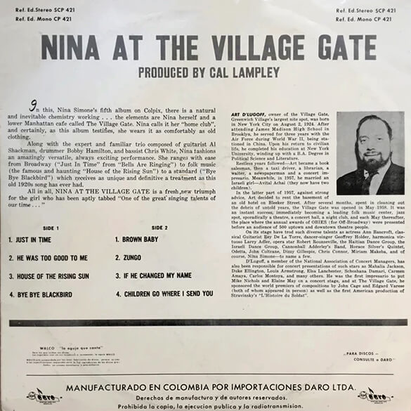 Nina Simone: At The Village Gate