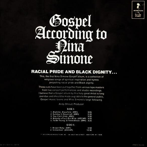 Gospel According To Nina Simone